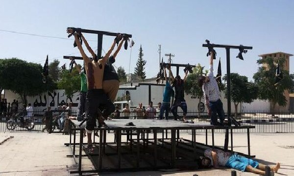 Yeah. These are Christians crucified by ISIS. Didn't know? Why?