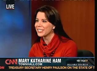 Happy conservative Mary Katharine Ham.