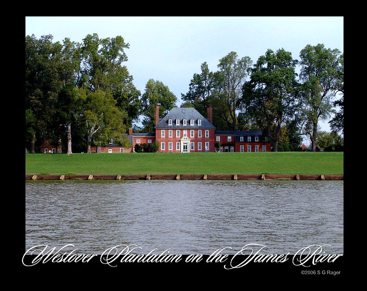 Westover plantation on the James River in Virginia. No admission fee, nobody else there. Just chairs for you and yours to sit and watch the river, watch life, go by.