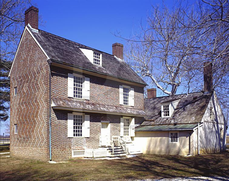 Hancock House. Brit bayonets in the night.