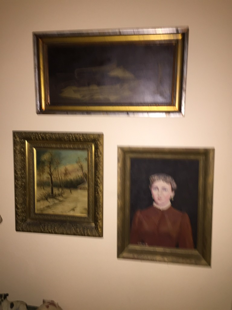 The wall. All paintings by family.