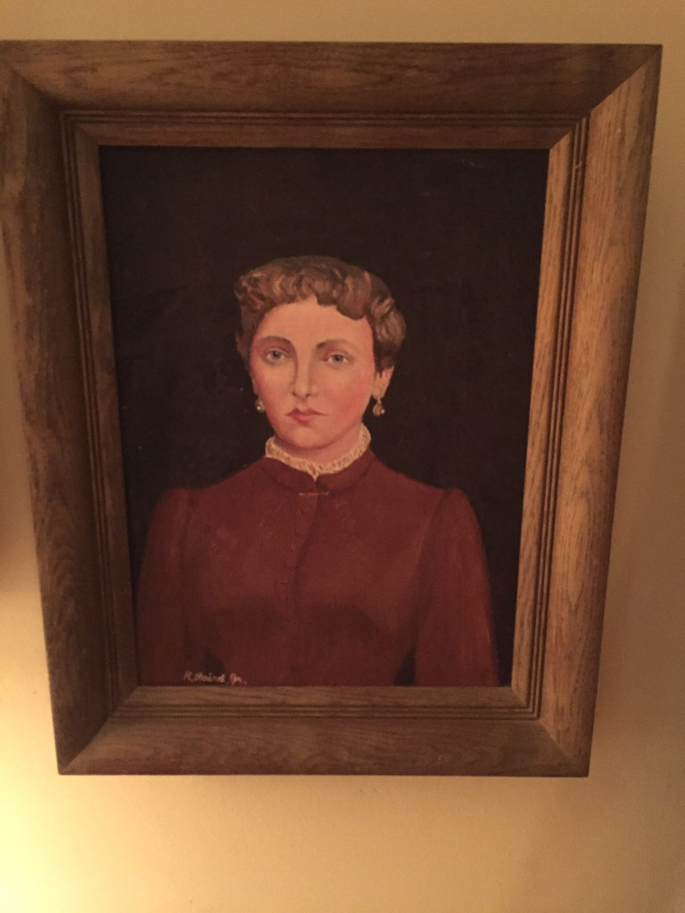 My grandfather's mother. All he remembered of her was her finger. My dad painted her portrait from a photograph. We're all unfeeling old Scottish bastards.