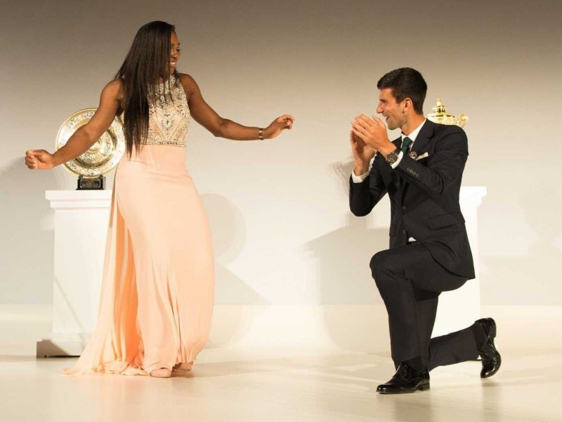 Serena and Novak.
