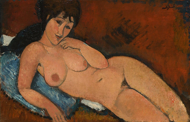 This nude of Miss Fisher from her wilder days was the maguffin in one of her mysteries. She liked making her police inspector blush at the sight of it.