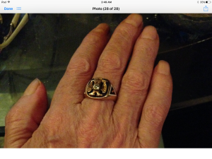 Got the hands from God-and the ring from his Masonic grandfather.