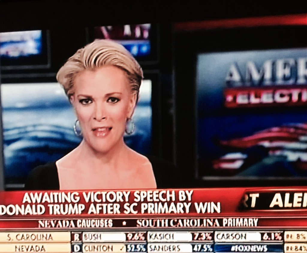 Fox is having a very grumpy night. Megyn has a very brittle smile.