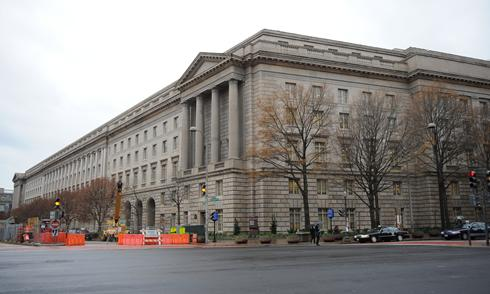 The IRS HQ in DC. The columns are a vestigial ruse.