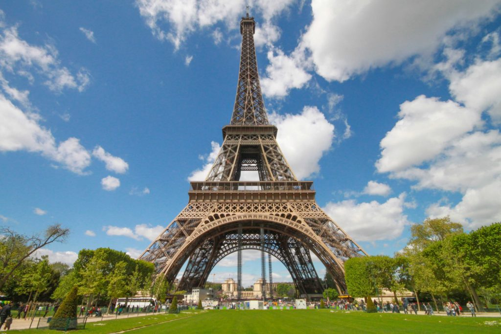 Thar she blows. The Eiffel Tower at ground level. Come on in.