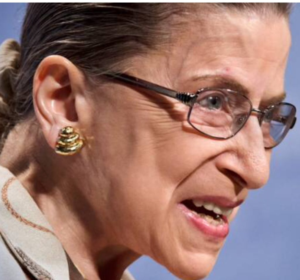 Humanitarian extraordinaire Ruth Bader Ginsburg.